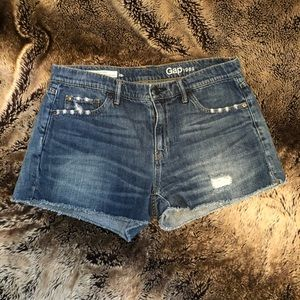 Gap - distressed cutoff jean shorts